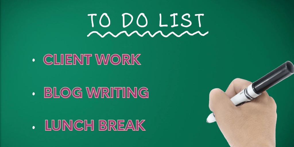 writing the to-do list