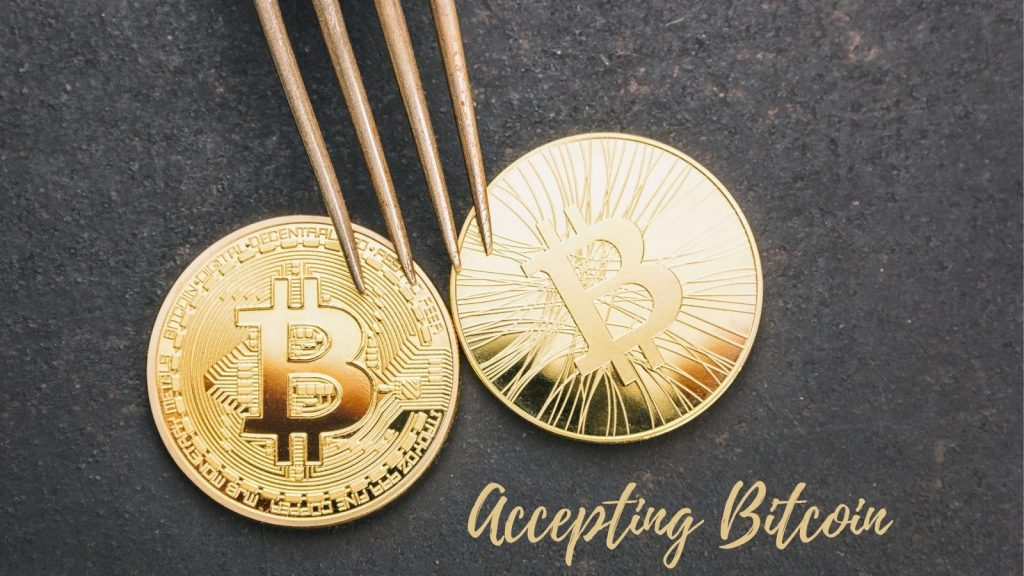 accepting bitcoin for services and products