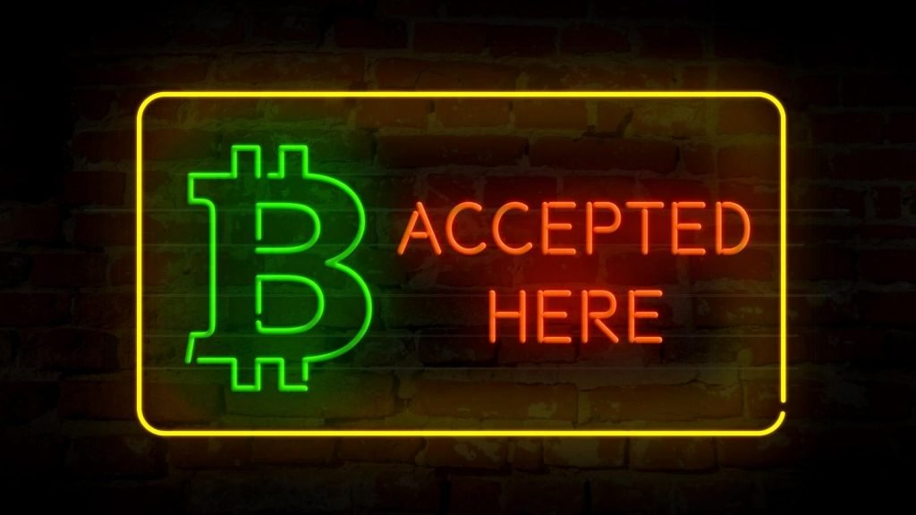 accept bitcoin for services